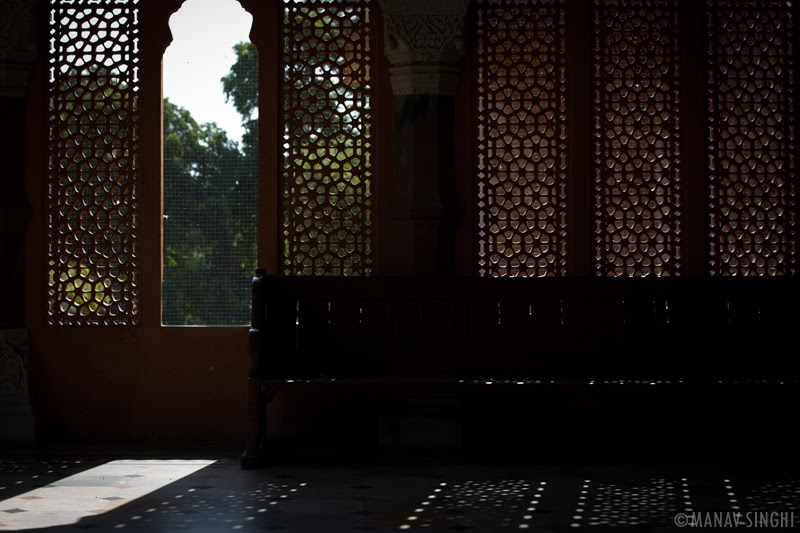 Game of Light and Shadow from the Jali Wali Windows of  Albert hall, Jaipur.