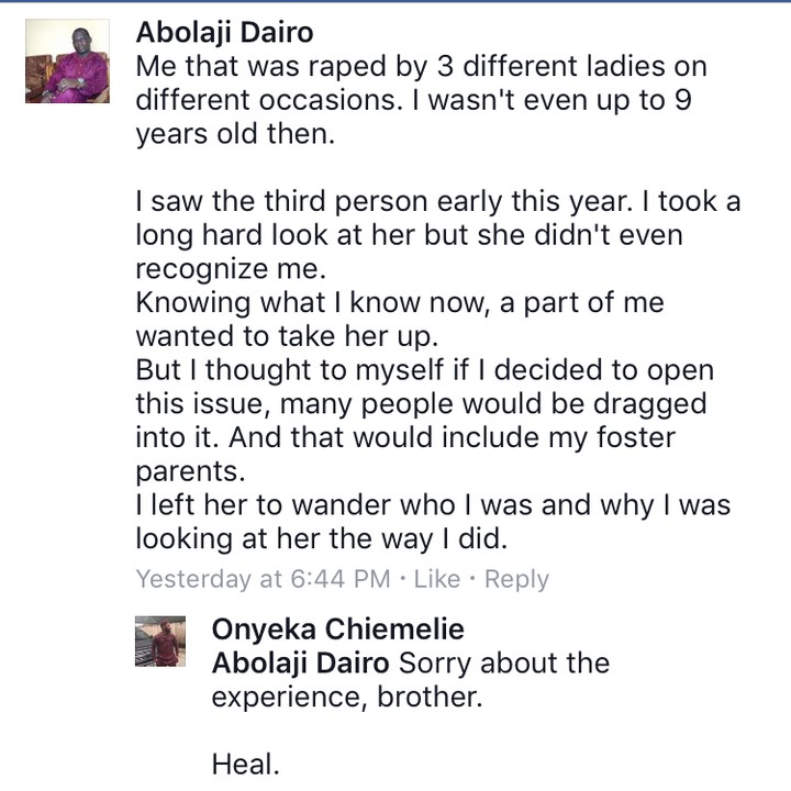 Nigerian Men Share Their Rape Experiences As Boys - Read Storiers here