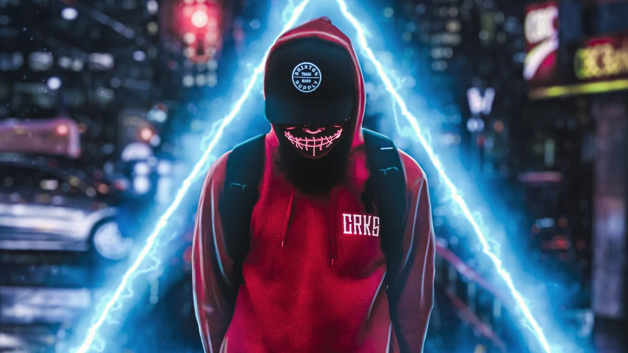 Neon Mask Triangle Zone