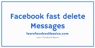Delete Messenger Messages at once on Facebook | Facebook fast delete messages | Facebook Delete all messages - Delete Old Fb messages