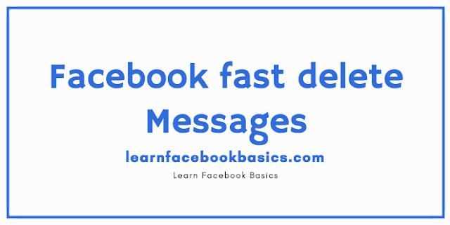 Delete Messenger Messages at once on Facebook | Facebook fast delete messages | Facebook Delete all messages - Delete Old Fb messages