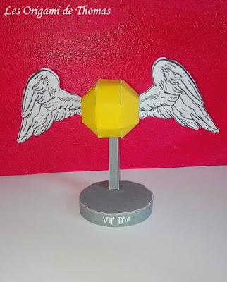 diy Vif d'Or en papercraft Origami