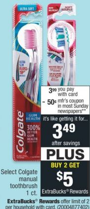 FREE Colgate Manual Toothbrush at CVS 11/22-11/28
