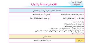 جميع جذاذت الوحدة الرابعة- الواضح في اللغة العربية للمستوى الرابع ابتدائي