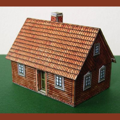 German House Paper Model