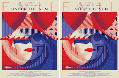Agatha Christie's Evil Under The Sun Movie Poster Screen Print by We Buy Your Kids x Black Dragon Press x Mondo