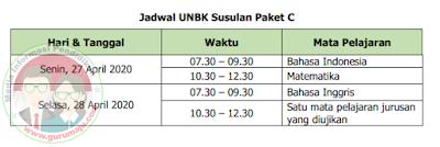 Jadwal UN UNBK Paket C Susulan
