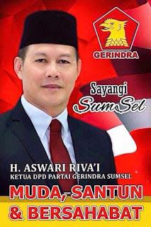 H. Aswari Riva'i Bakal Calon Gubernur Sumatera Selatan 2018