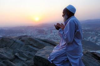 Muslim is praying