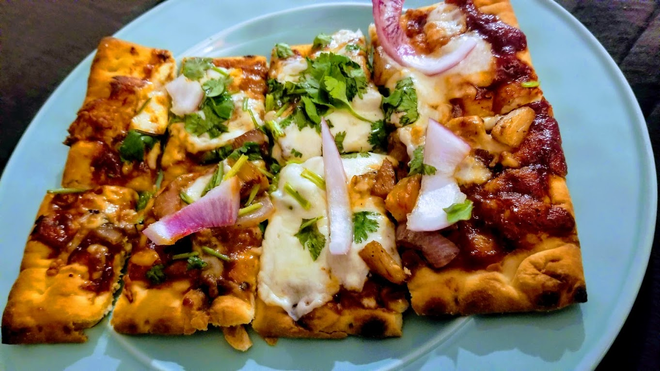 BBQ pineapple flatbread, from Hello Fresh