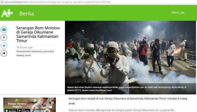 Beritakan Bom Gereja Samarinda, Media Australia Pajang Foto Aksi Bela Islam 411