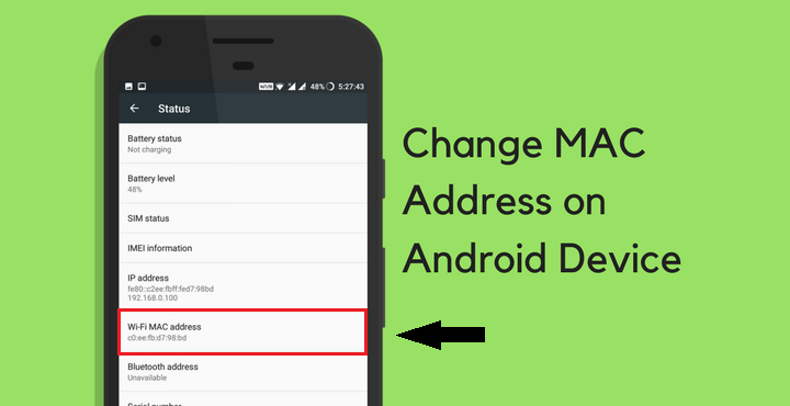 How to change android MAC address with ROOT any mobile