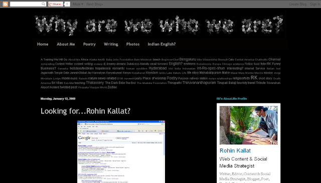 RK's Blog - Why are we who we are? (YRV-WhoVR.blogspot.in) - Screen Shot