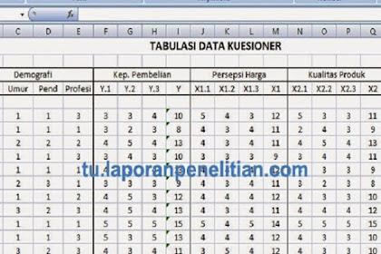 Maksud Tabulasi Data Dalam Penelitian