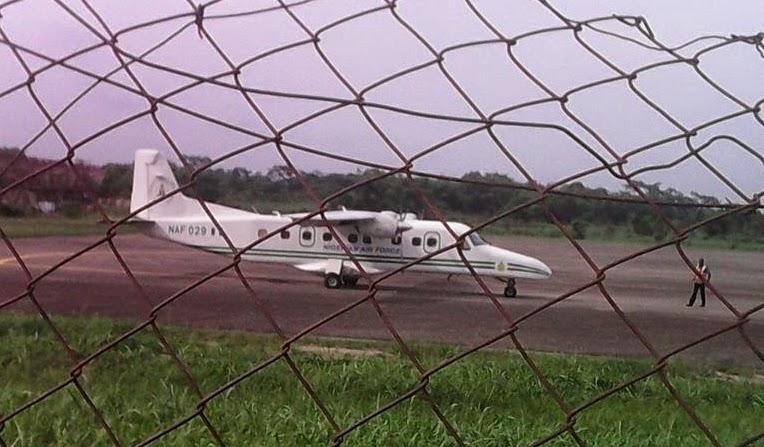 fayose boards nigerian airforce jet