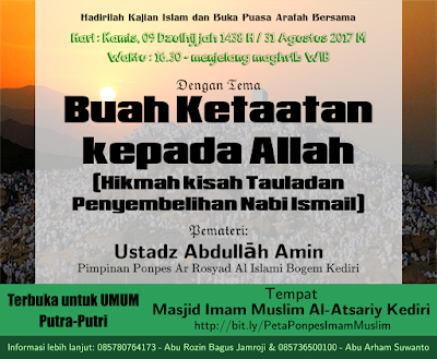 Imam Muslim - Buka Bersama Puasa Arafah - karyafikri.blogspot.com