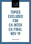 ICAI excluded topics from CA Inter & Final (Old & New Scheme) Syllabus for Nov 19 Exams