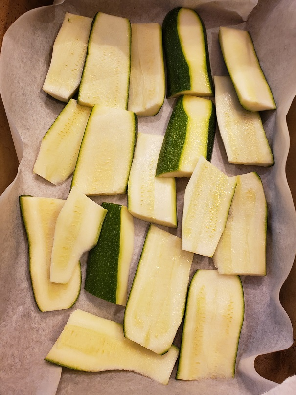 this is mandolin sliced zucchini lengthwise