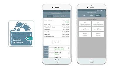 Aplikasi Catatan Keuangan Harian dapat digunakan untuk mengatur finansial anda