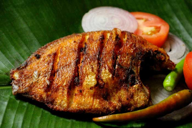 Traditional Fried Karimeen, Alleppey