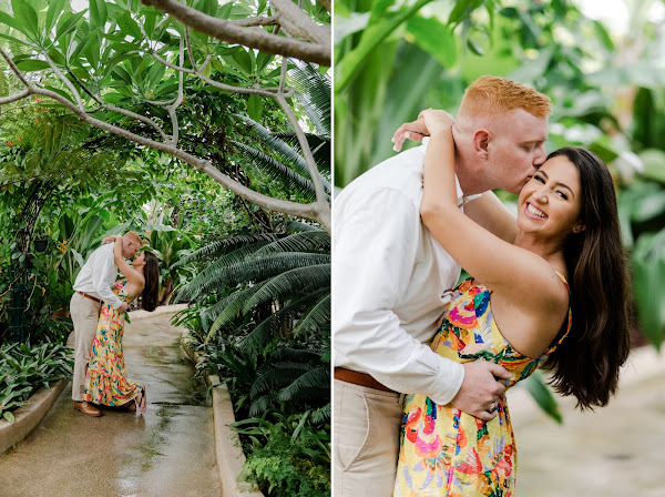 Rawlings Conservatory Engagement Session photographed by Heather Ryan Photography