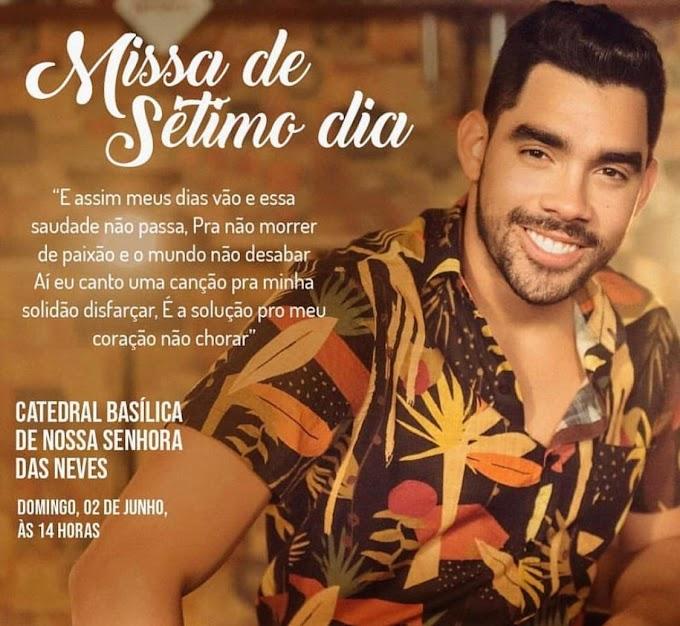 Missa de 7º dia da morte do cantor Gabriel Diniz acontece neste domingo