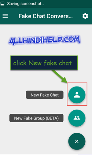 tap on new fake chat