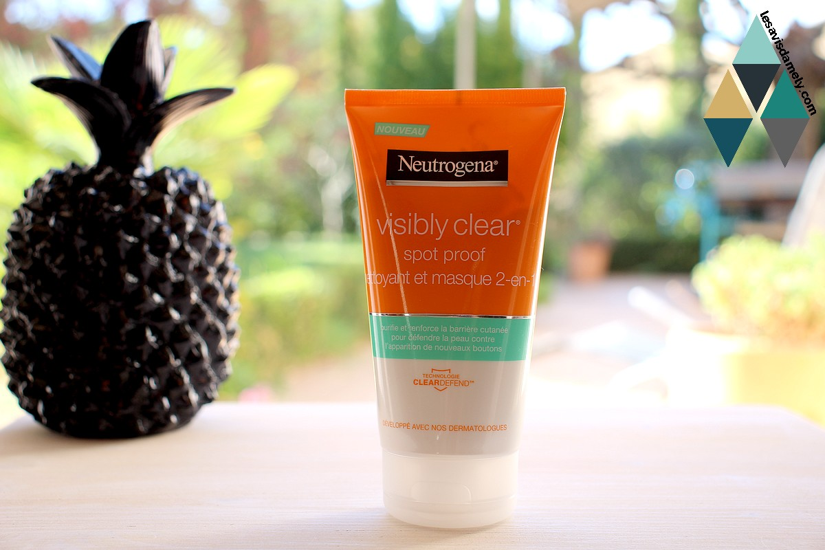 nettoyant et masque 2 en 1 neutrogena spot proof visibly clear
