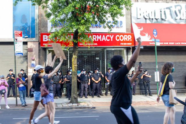 Police at Black Lives Matter Protest