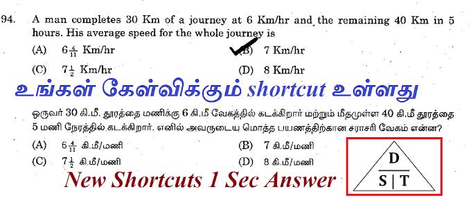 நேரம் மற்றும் தொலைவு (சராசரி) (Your Questions)