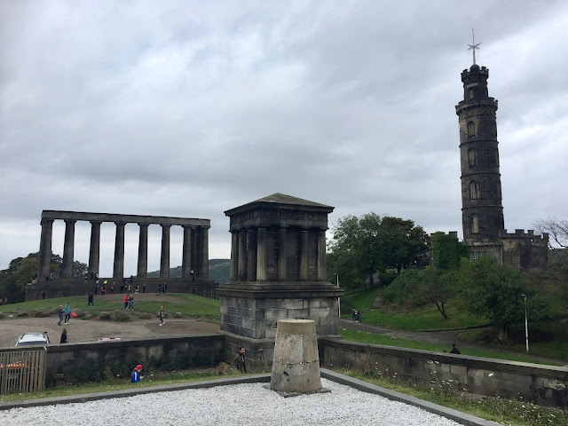 Monuments viewed from the City Observatory, Calton Hill, Edinburgh