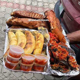Peppery Nigerian food(Bolé)