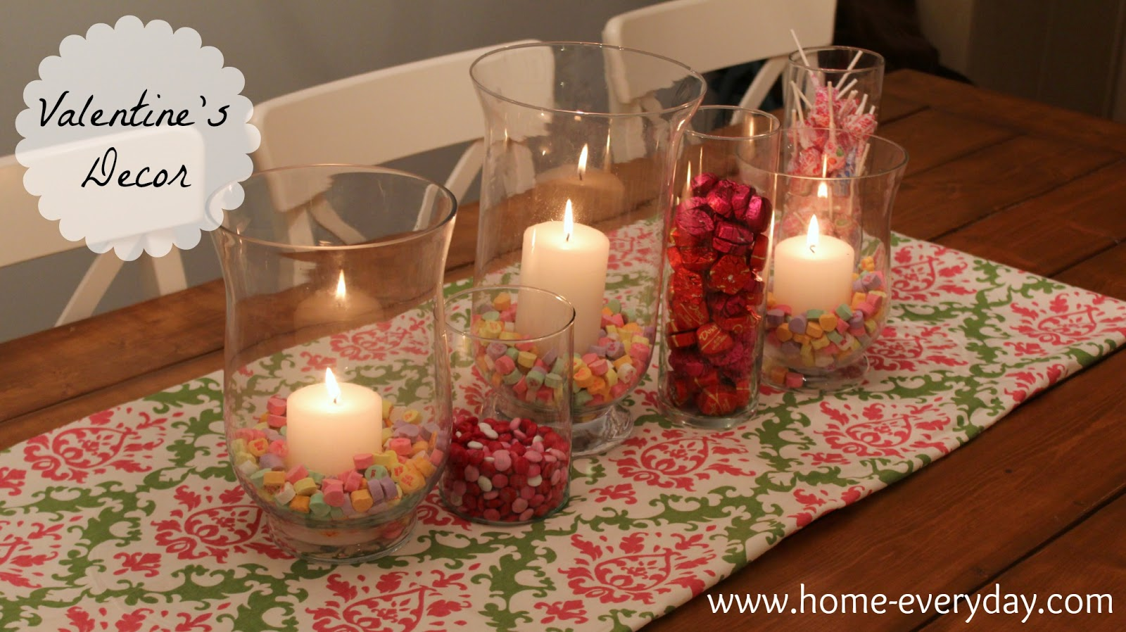 Flowers Candy And Books Valentine S Dining Table Decor Home Everyday