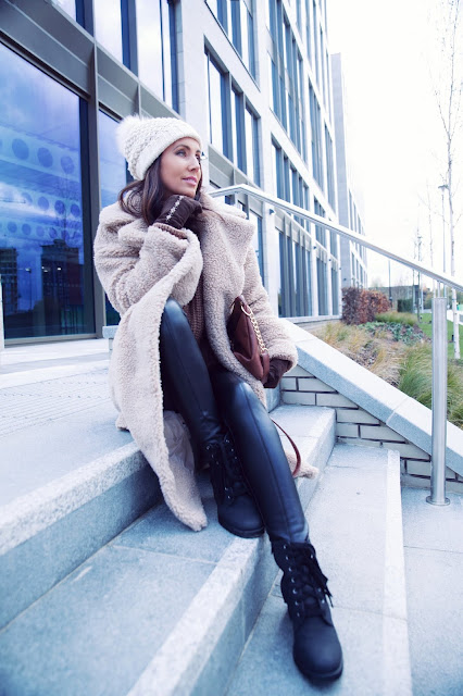 woman glam winter outfit