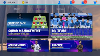 Efootball pes 2021 mobile patch champions league V 5.3.0