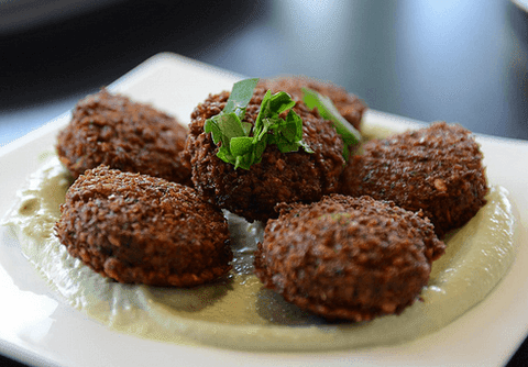 Tahini and falafel balls