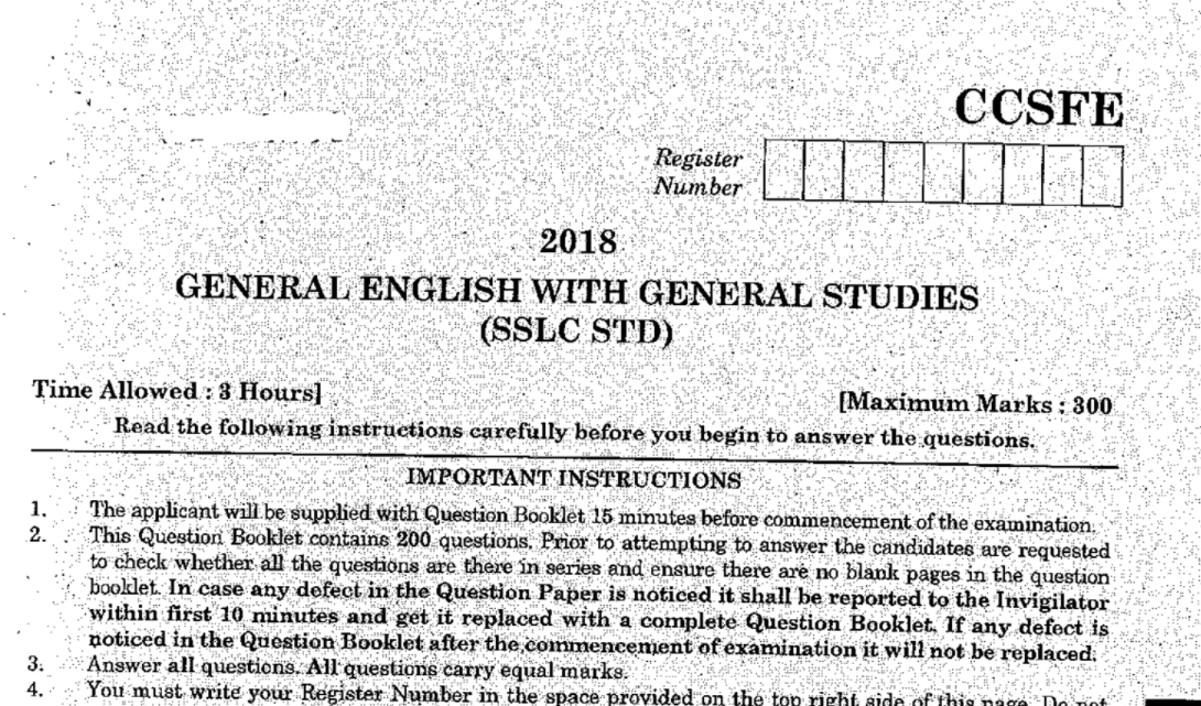 tnpsc group 4 previous year question paper