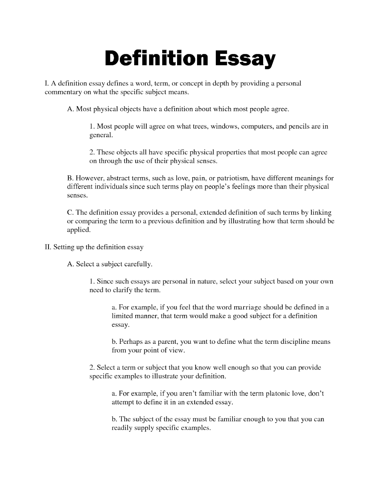 Definition essay on heroism
