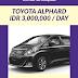 Sewa Toyota Alphard dan Rental Mobil Mewah di Padang Sumatera Barat
