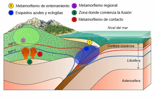 Resultado de imagen para Metamorfismo Hidrotermal y el Metasomatismo