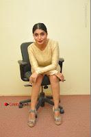 Actress Pooja Roshan Stills in Golden Short Dress at Box Movie Audio Launch  0080.JPG