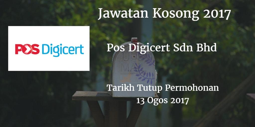 Jawatan Kosong Pos Digicert Sdn Bhd 13 Ogos 2017