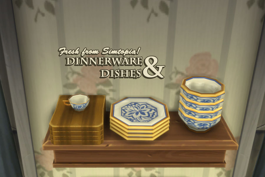 Dinnerware u0026 Dishes Replacements and Decorative by The Valerius Vaults & My Sims 4 Blog: Dinnerware u0026 Dishes Replacements and Decorative by ...