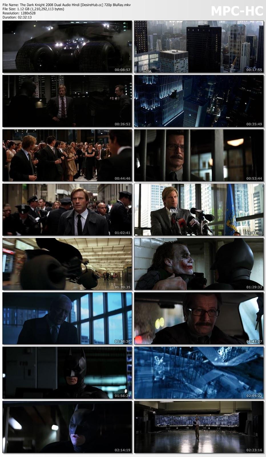 The Dark Knight 2008 Dual Audio Hindi 480p BluRay 450mb Desirehub