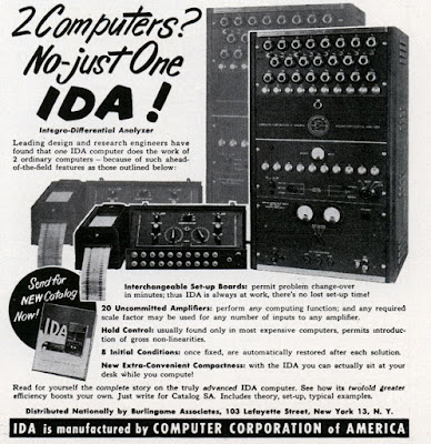 COMPUTER CORPORATION OF AMERICA.  IDA (Integro-Differential Analyzer