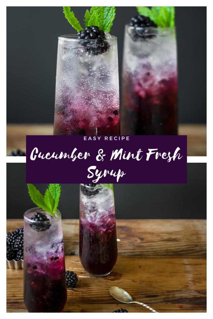 BLACKBERRY, CUCUMBER & MINT GIN COOLER #drink #cocktail