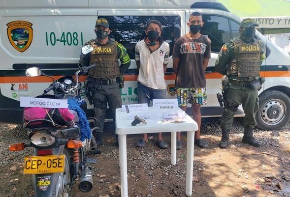 Asaltantes de Bosconia se apoderaron de una moto y de un millón doscientos mil pesos