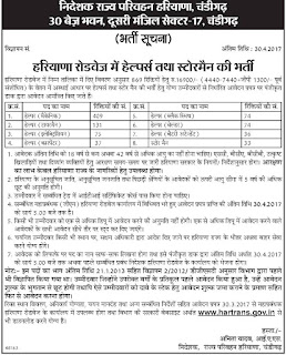 Department of State Transport Haryana Recruitment 2017 For 869 Vacancies For Helper