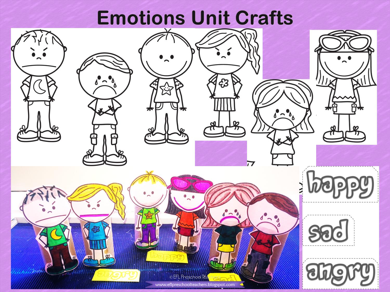 ESL/EFL Preschool Teachers Emotions Theme for Kindergarten ...