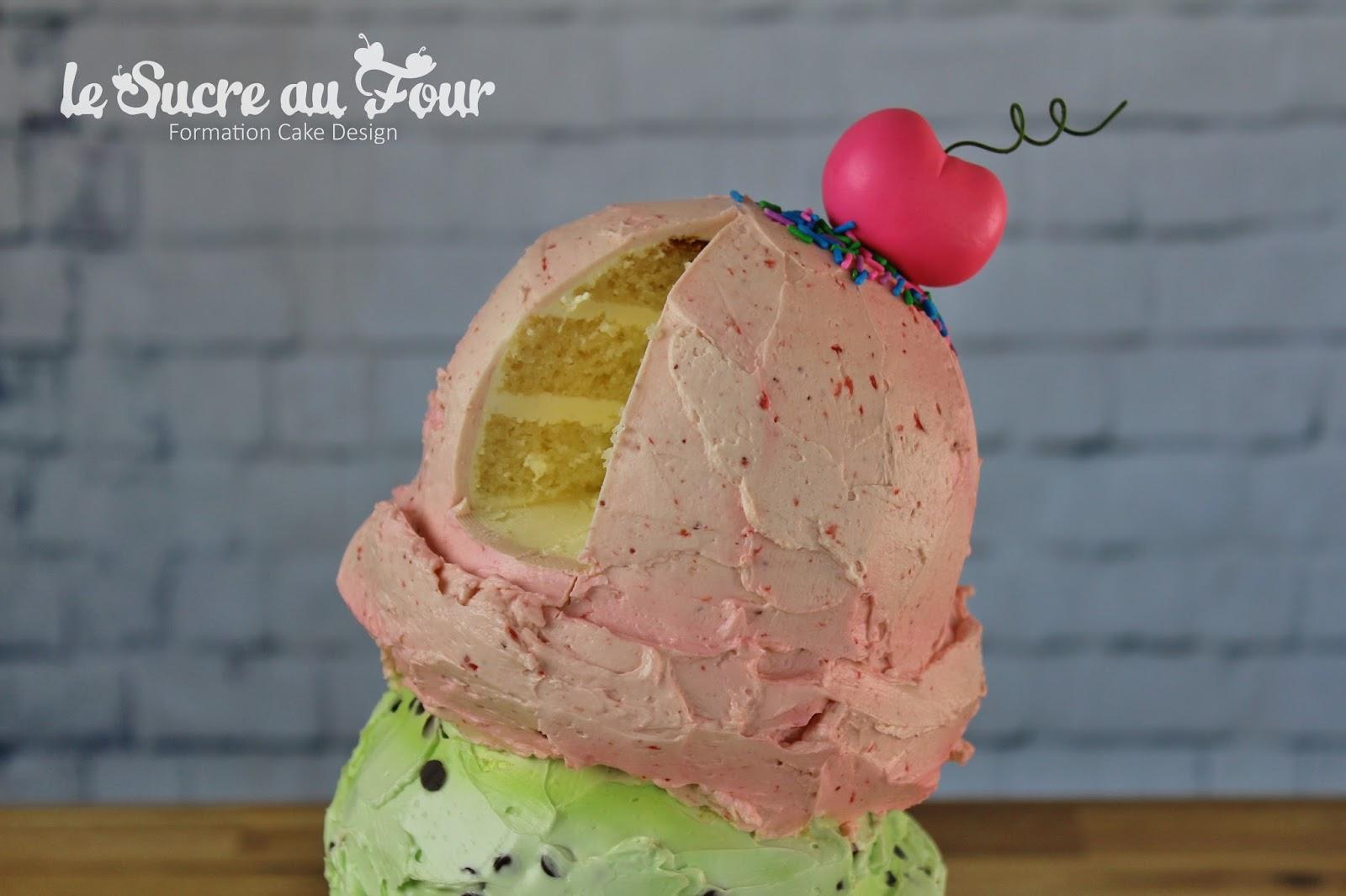 crème au beurre meringue suisse à la fraise